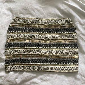 Twik sequinned and beaded mini skirt